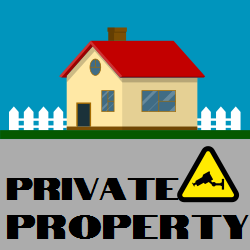 Private Property | Sign Announcing about  Monitoring via Video Camera