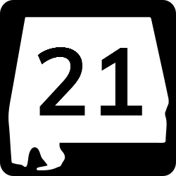 Alabama Two-digit state route shield sign | Regulatory Road Signs