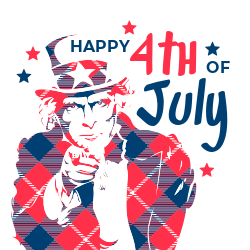Uncle Sam 4th of July template