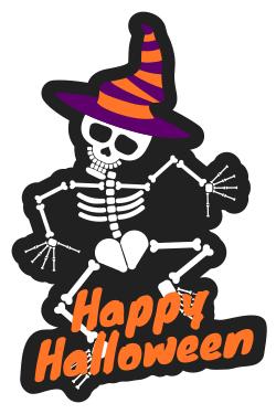 Customizable Halloween sign template