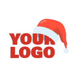 Christmas logo sign template